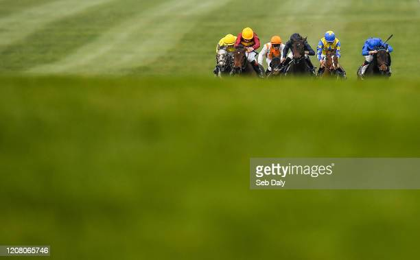Kildare Ireland 23 March 2020 Numerian second from left with Declan McDonogh up on their way to winning the Devoy Stakes at Naas Racecourse in Naas...