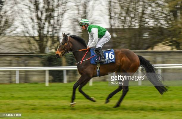 Kildare Ireland 23 March 2020 Thekeyisnottopanic with Rory Cleary up goes to post ahead of the Irish Stallion Farms EBF Maiden at Naas Racecourse in...