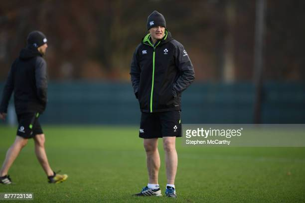 Kildare Ireland 23 November 2017 Head coach Joe Schmidt during Ireland rugby squad training at Carton House in Maynooth Kildare
