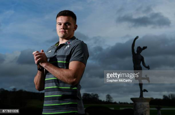 Kildare Ireland 23 November 2017 Jacob Stockdale poses for a portrait following an Ireland rugby press conference at Carton House in Maynooth Kildare