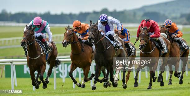 Kildare Ireland 24 May 2019 Viadera far left with Colin Keane on their way to winning the Extraie Spring Fillies Handicap from second place Lady...