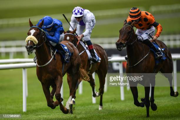 Kildare Ireland 26 June 2020 Feminism left with Ronan Whelan up on their way to finishing second ahead of eventual third place finisher She's Our...