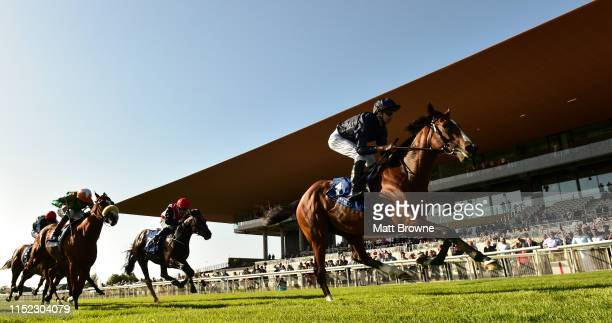 Kildare , Ireland - 27 June 2019; Armory with, Donnacha O'Brien up, on their way to winning the Irish Stallion Farms EBF C&G Maiden during day one of...
