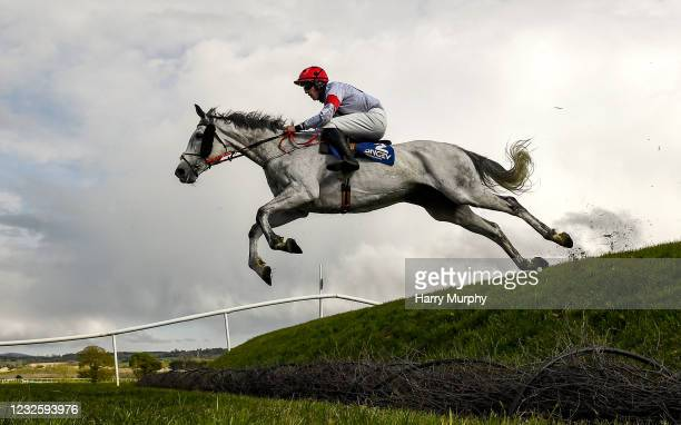 Kildare , Ireland - 29 April 2021; Some Neck, with Ben Harvey up, jumps Ruby's Double during the Mongey Communications La Touche Cup Cross Country...