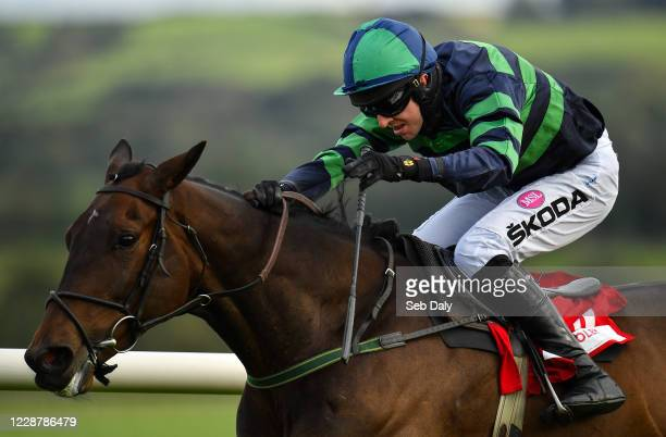 Kildare Ireland 29 September 2020 Dewcup with Mark Walsh up on their way to winning the Dooley Insurance Group Hurdle at Punchestown Racecourse in...