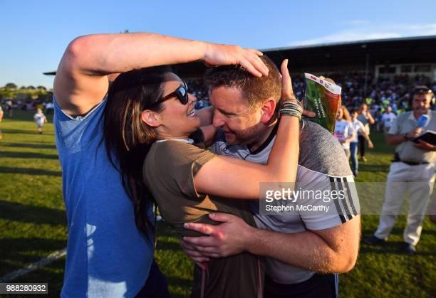 Kildare Ireland 30 June 2018 Kildare manager Cian O'Neill is congratulated by his wife Tammy following the GAA Football AllIreland Senior...