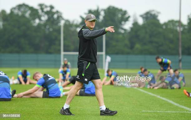 Kildare Ireland 31 May 2018 Head coach Joe Schmidt during Ireland squad training at Carton House in Maynooth Co Kildare