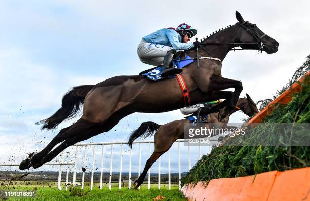 Kildare Ireland 5 January 2020 Good Thyne Tara with Paul Townend up jumps the second during the Irish Stallion Farms EBF Mares Beginners Steeplechase...
