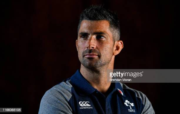 Kildare Ireland 5 September 2019 Rob Kearney poses for a portrait after an Ireland Rugby press conference at Carton House in Maynooth Kildare