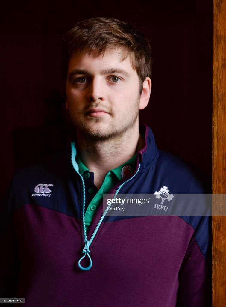 Kildare , Ireland - 6 March 2017; Iain Henderson of Ireland poses for a portrait following a press conference at Carton House in Maynooth, Co. Kildare.