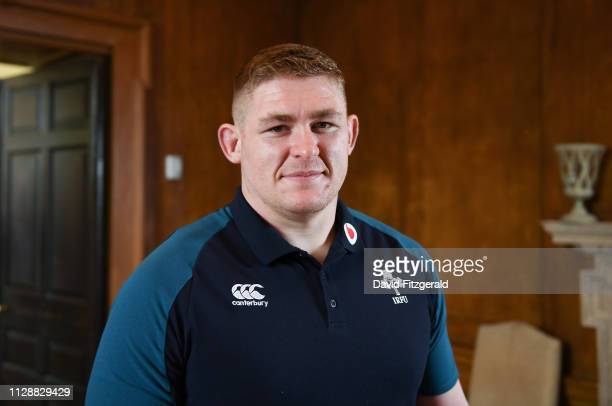 Kildare Ireland 6 March 2019 Tadhg Furlong poses for a portrait following an Ireland Rugby Press Conference at Carton House in Maynooth Kildare