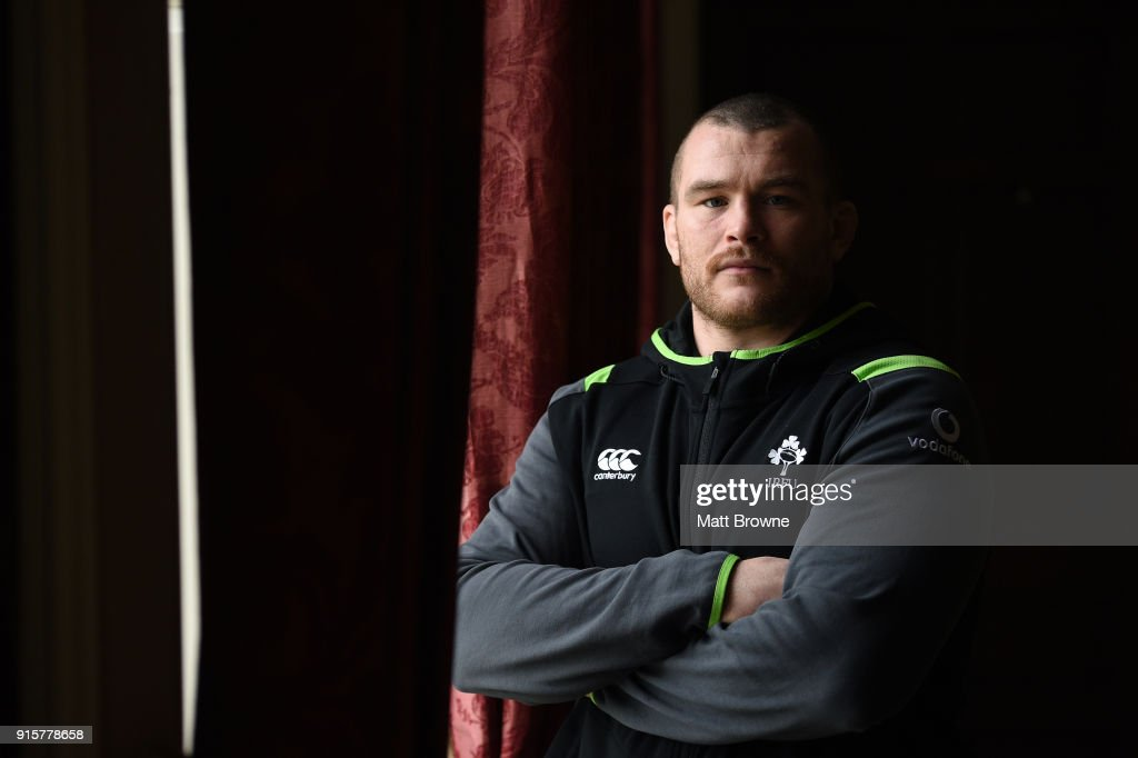 Kildare , Ireland - 8 February 2018; Jack McGrath after an Ireland Rugby squad press conference at Carton House in Kildare.