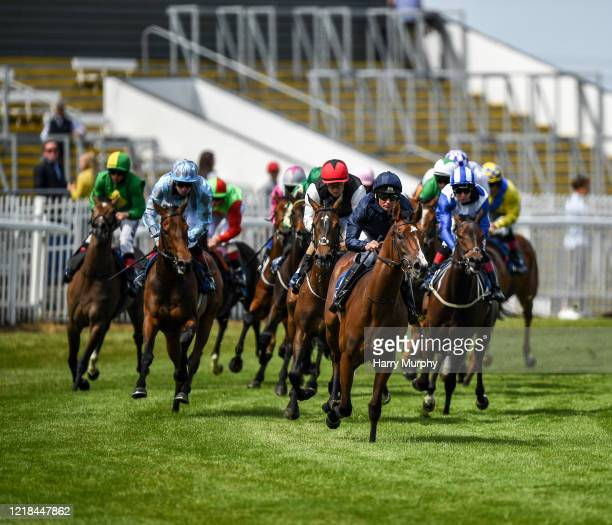 Kildare Ireland 8 June 2020 More Beautiful with Seamie Heffernan up after winning the Irish Stallion Farms EBF Fillies Maiden at Naas Races in...
