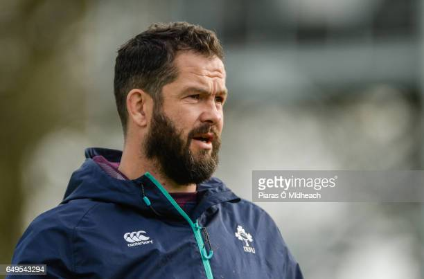 Kildare Ireland 8 March 2017 Ireland defence coach Andy Farrell during squad training at Carton House in Maynooth Co Kildare