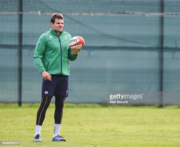 Kildare Ireland 8 March 2017 Jared Payne of Ireland during squad training at Carton House in Maynooth Co Kildare