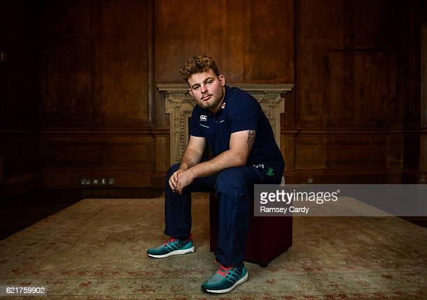 Kildare , Ireland - 8 November 2016; Ireland's Finlay Bealham poses for a portrait following a press conference at Carton House in Maynooth, Co...