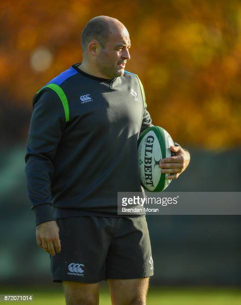 Kildare Ireland 9 November 2017 Ireland captain Rory Best during Ireland rugby squad training at Carton House in Maynooth Kildare