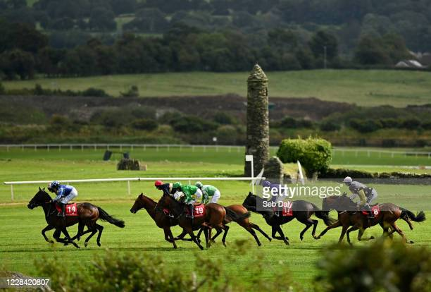 Kildare Ireland 9 September 2020 A view of the field during the Westgrove Hotel Maiden Hurdle at Punchestown Racecourse in Kildare