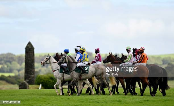 Kildare Ireland 9 September 2020 A view of the field prior to the Enter Now For Goffs December National Hunt Sale Maiden Hurdle at Punchestown...