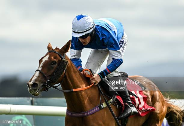 Kildare Ireland 9 September 2020 So Near So Farhh with Adam Short up on their way to winning the Baltreacy Handicap Hurdle DIV I at Punchestown...