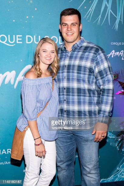 Kiley Blythe and Austin Blythe attend the LA premiere event of Cirque du Soleil's Amaluna at Big Top At The LA Waterfront on April 25 2019 in San...
