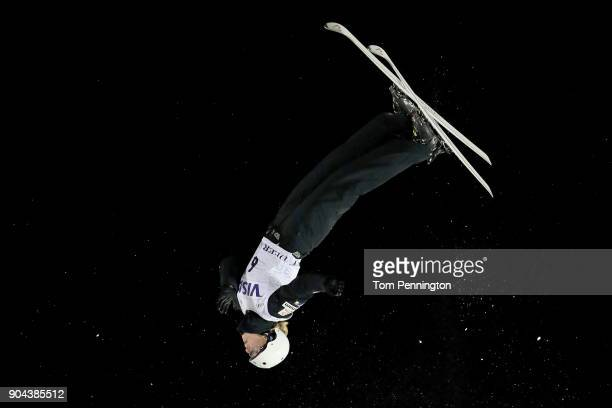 Kiley McKinnon of the United States competes in the Ladies' Aerials Finals during the 2018 FIS Freestyle Ski World Cup at Deer Valley Resort on...