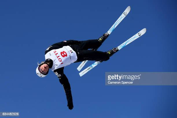 Kiley McKinnon of the United States performs an aerial during qualifictaion in the FIS Freestyle Ski World Cup 2016/17 Ladies Aerials at Bokwang Snow...