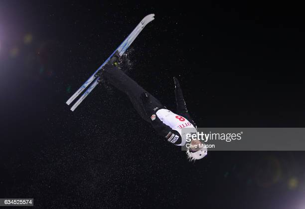 Kiley McKinnon of USA in action during the Womens Aerials final at the FIS Freestyle Ski World Cup 2016/17 Aerials at Bokwang Snow Park on February...