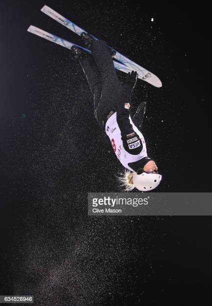 Kiley McKinnon of USA in action during the Womens Aerials final in the FIS Freestyle Ski World Cup 2016/17 Aerials at Bokwang Snow Park on February...