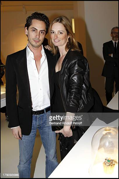 Kilian Hennessy and sister Angelique Motte at The Private View Of Victoire De Castellane's Exhibition Of Fleurs D'Exces At Galerie Gagosian Followed...