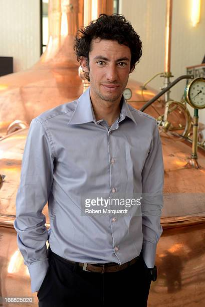 Kilian Jornet poses for a private portrait session during the Sports Cultura Awards 2013 held at the antigua fabrica de Cervezas Damm on April 17...