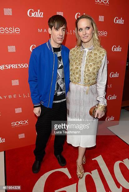 Kilian Kerner and Anne MeyerMinnemann attend the GALA Fashion Brunch at Ellington Hotel on January 22 2015 in Berlin Germany