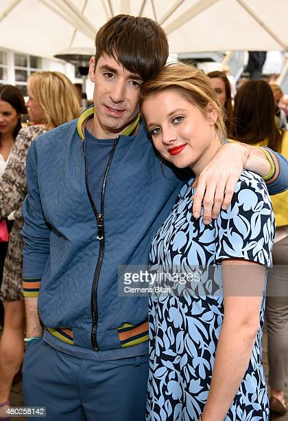 Kilian Kerner and Jella Haase attend the GALA Fashion Brunch Summer 2015 at Ellington Hotel on July 10, 2015 in Berlin, Germany.