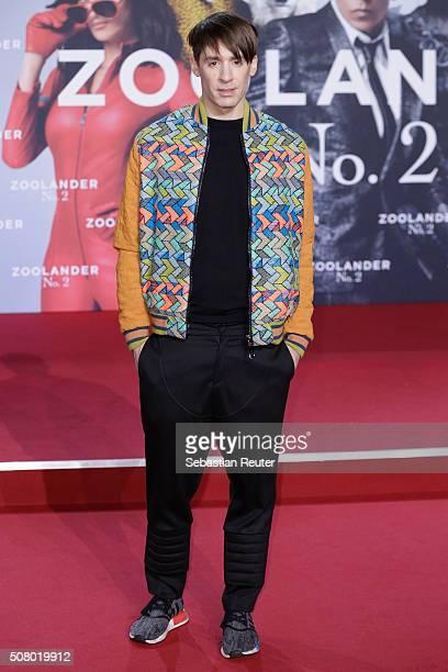 Kilian Kerner attends the Berlin fan screening of the film 'Zoolander No 2' at CineStar on February 2 2016 in Berlin Germany
