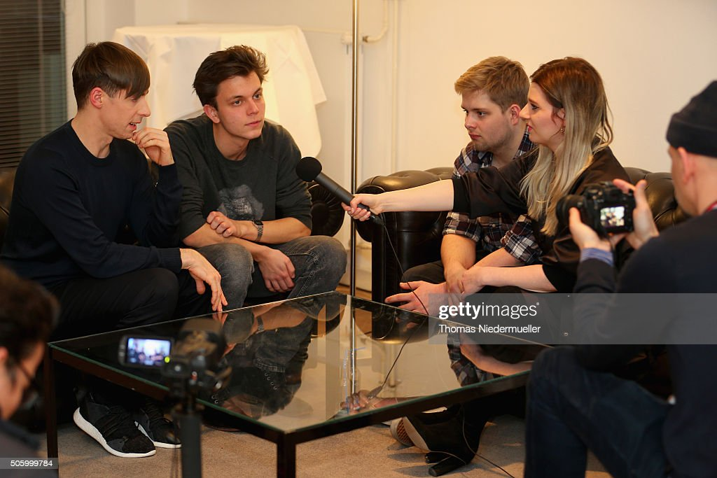 Kilian Kerner during an interview backstage ahead of the Kilian Kerner show during the Mercedes-Benz Fashion Week Berlin Autumn/Winter 2016 at Ellington Hotel on January 20, 2016 in Berlin, Germany.