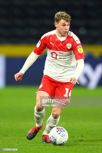 Kilian Ludewig of Barnsley FC during the Sky Bet Championship match between Hull City and Barnsley at KCOM Stadium on February 26 2020 in Hull England