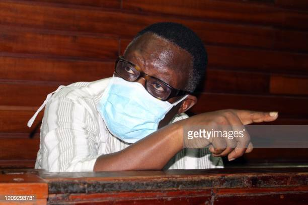 Kilifi County Deputy Governor Gideon Saburi appears in the dock over accusations of failing to self-quarantine, at the Mombasa court in Mombasa,...