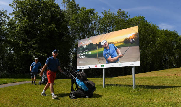 IRL: Mount Juliet Golf Club on the postponed first day of the 2020 Dubai Duty Free Irish Open Golf Championship