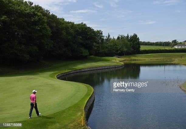 Kilkenny , Ireland - 29 June 2021; Padraig Harrington on the third green during a practice round before the Dubai Duty Free Irish Open Golf...