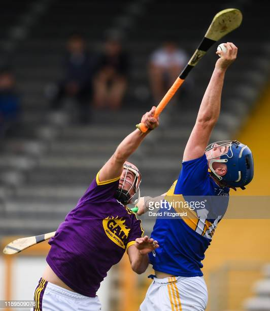 Kilkenny , Ireland - 4 August 2019; Billy Seymour of Tipperary in action against Eoin O'Leary of Wexford during the Bord Gáis GAA Hurling All-Ireland...