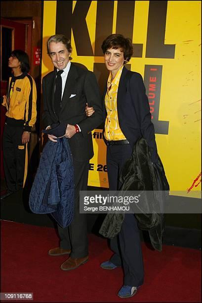 Kill Bill Premiere At Rex Cinema In Paris On November 4 2003 In Paris France Ines De La Fressange And Her Husband Luigi D'Urso
