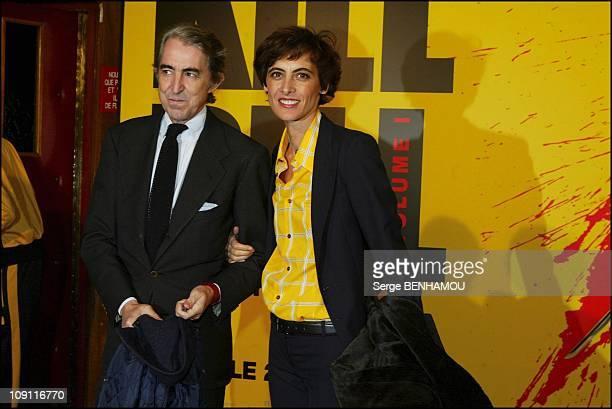 """Kill Bill"" Premiere At Rex Cinema In Paris. On November 4, 2003 In Paris, France. Ines De La Fressange And Her Husband Luigi D'Urso"