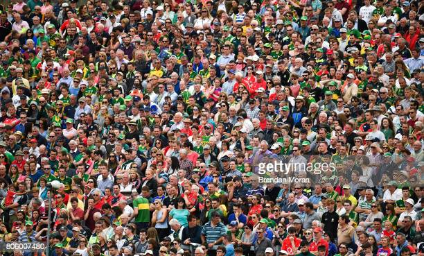 Killarney Ireland 2 July 2017 A section of the crowd look on during the Munster GAA Football Senior Championship Final match between Kerry and Cork...
