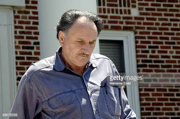 D Killen the brother of Edgar Ray Killen exits the Neshoba County Courthouse after opening arguments in his brother's murder trial on June 15 2005 in...