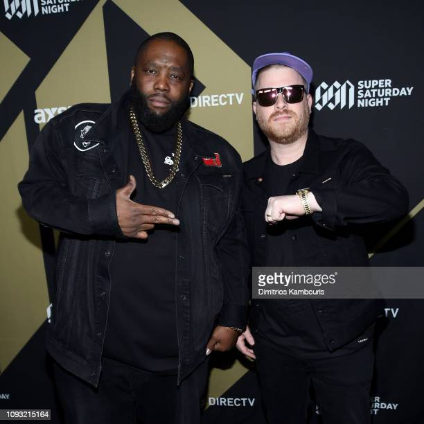 Killer Mike and El-P of Run the Jewels attends DIRECTV Super Saturday Night 2019 at Atlantic Station on February 2, 2019 in Atlanta, Georgia.