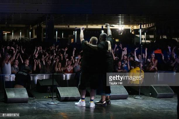 Killer Mike and El-P of Run the Jewels perform during the 2017 Forecastle Music Festival at Waterfront Park on July 14, 2017 in Louisville, Kentucky.