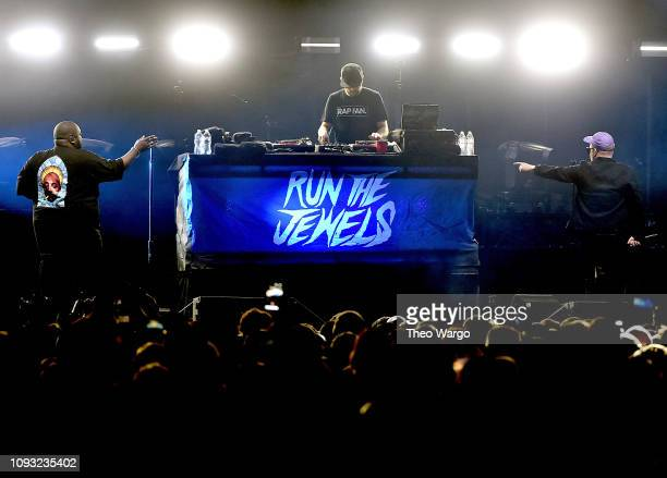 Killer Mike and ElP of Run the Jewels perform onstage at DIRECTV Super Saturday Night 2019 at Atlantic Station on February 2 2019 in Atlanta Georgia