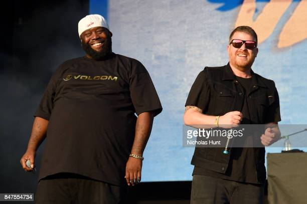 Killer Mike and ElP of Run The Jewels perform onstage during the Meadows Music And Arts Festival Day 1 at Citi Field on September 15 2017 in New York...
