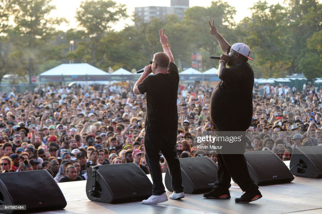 Killer Mike and El-P of Run The Jewels perform onstage during the Meadows Music And Arts Festival - Day 1 at Citi Field on September 15, 2017 in New York City.