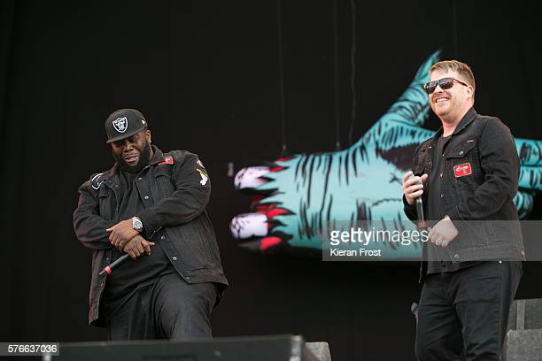 Killer Mike and ElP of Run The Jewels performs at Longitude festival at Marlay Park on July 16 2016 in Dublin Ireland